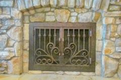 custom fireplace doors-25