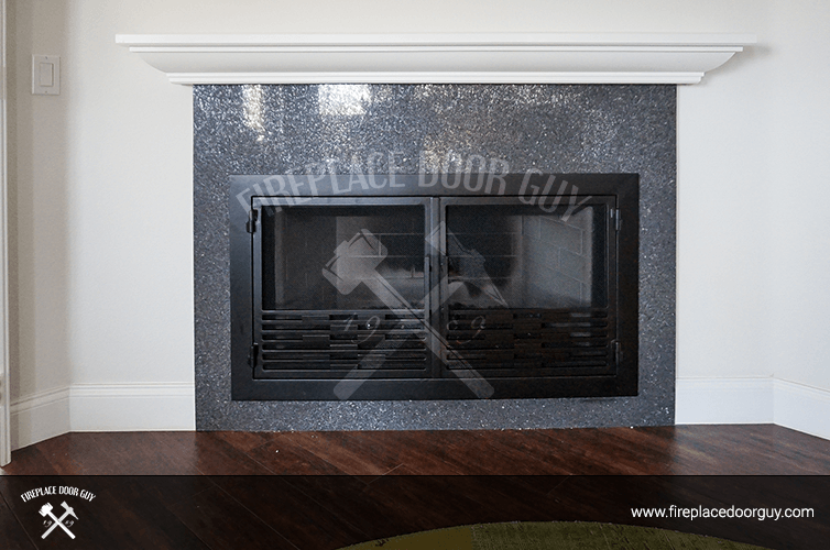 Rectangular Fireplace In San Francisco, CA