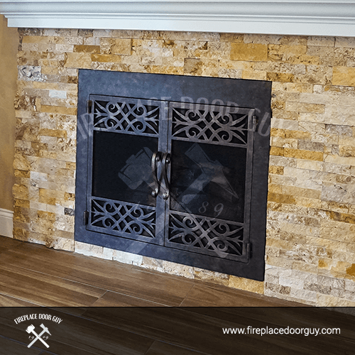 Stone Fireplace Door In Orange County CA ... & Virginia Fireplace Doors | Fireplace Door Guy