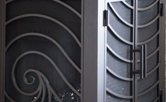 L Shape Custom Fireplace Doors Fireplace Door Guy