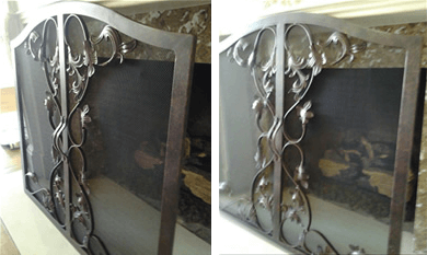 Free Standing Custom Fireplace Screen Fireplace Door Guy
