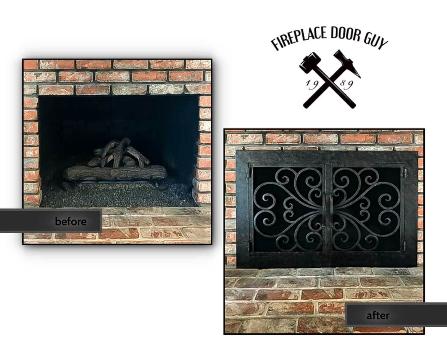 Before And After Gallery Fireplace Door Guy
