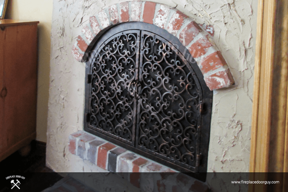 Arched Custom Fireplace Doors Fireplace Door Guy