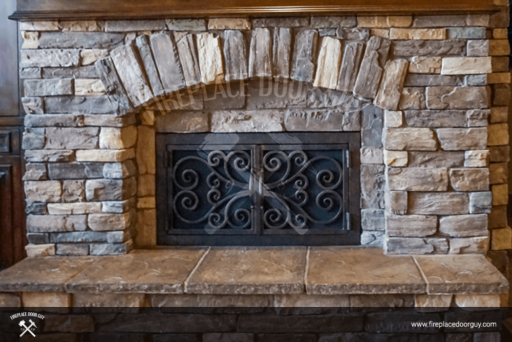 Arched Inside Rectangular Fireplace Doors Fireplace Door Guy