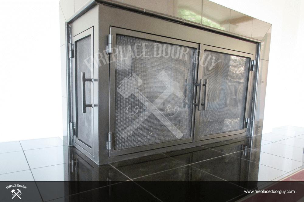 Cool L Shape Custom Fireplace Doors Fireplace Door Guy Download Free Architecture Designs Rallybritishbridgeorg
