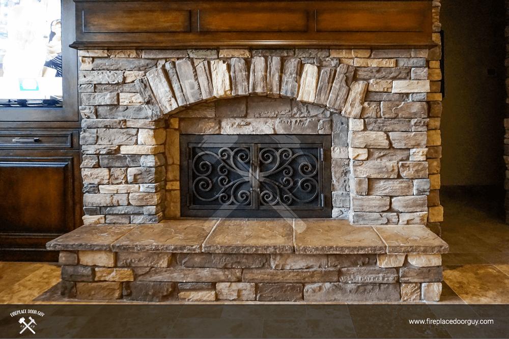 Stone Fireplace Custom Doors Fireplace Door Guy