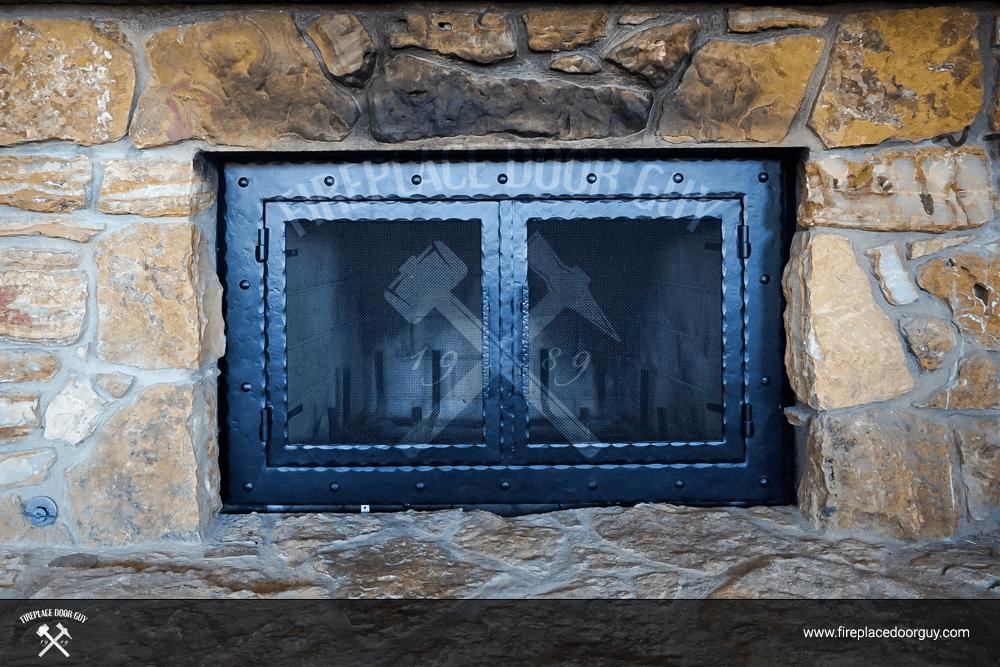 Doors Stone Fireplace : Stone fireplace custom doors door guy