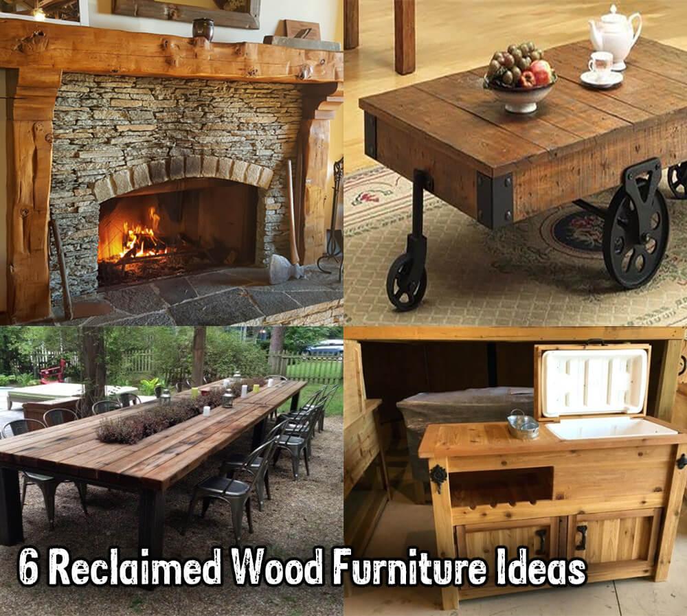 6 Reclaimed Wood Furniture Ideas Fireplace Door Guy